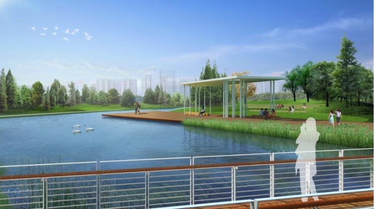 安徽芜湖商务文化中心中央公园景观设计方案-婚礼园效果图