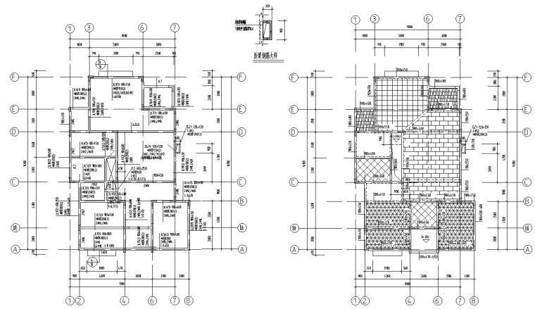 欧式风格二层别墅结构施工图CAD含建筑图-基础梁配筋图