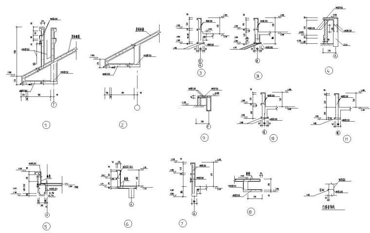 欧式风格二层别墅结构施工图CAD含建筑图-节点大样图