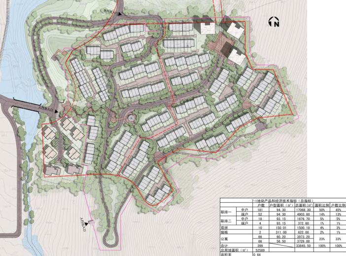 [吉林]松花湖度假村联排别墅区规划设计文本-总图