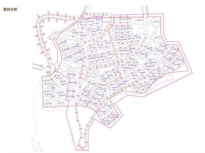[吉林]松花湖度假村联排别墅区规划设计文本-竖向分析