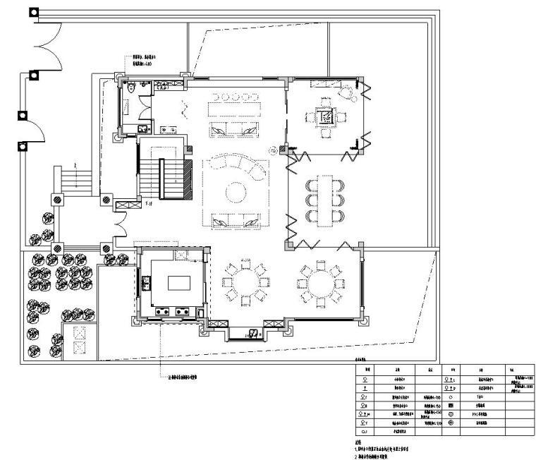 北纬18°现代风900㎡别墅住宅装修施工图设计-给排水点位图