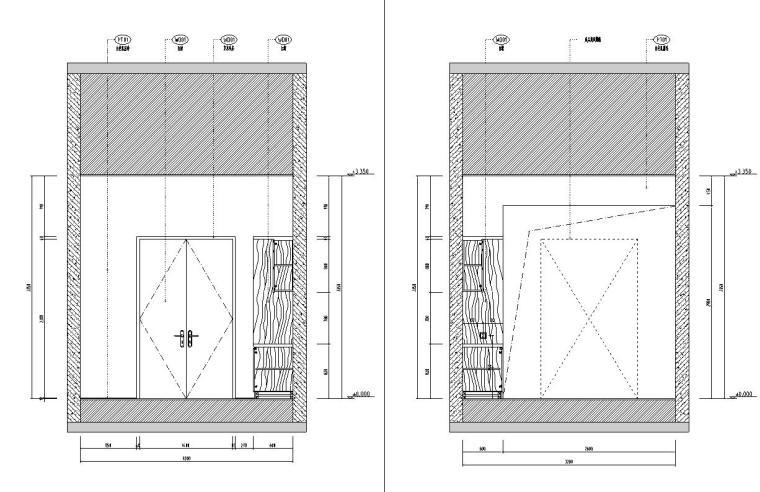 北纬18°现代风900㎡别墅住宅装修施工图设计-立面图
