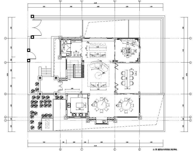 北纬18°现代风900㎡别墅住宅装修施工图设计-家具尺寸定位图