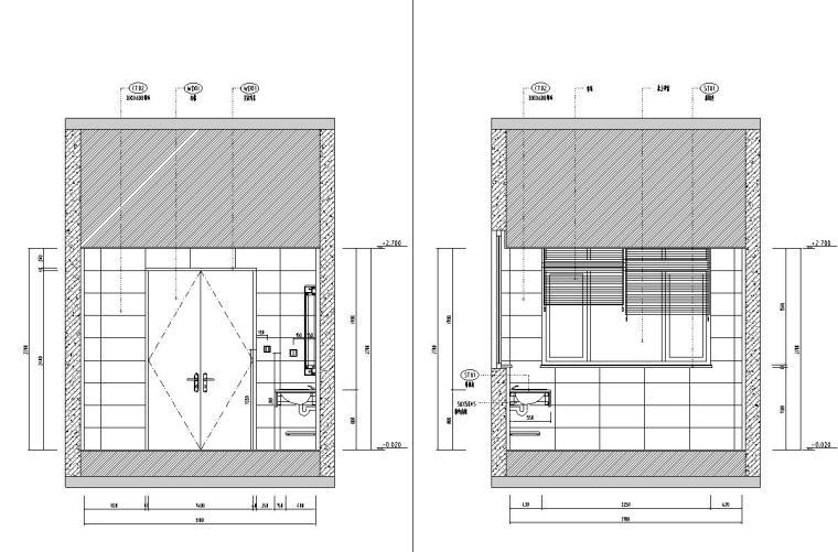 北纬18°现代风900㎡别墅住宅装修施工图设计-立面图1