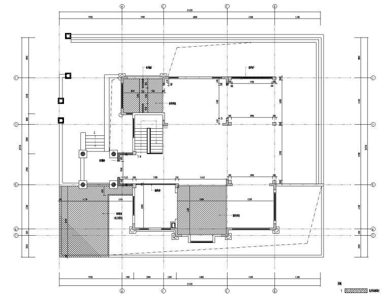 北纬18°现代风900㎡别墅住宅装修施工图设计-一层新建平面图