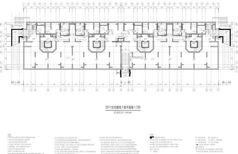 康桥水都三居室高层建筑户型图设计 (1)