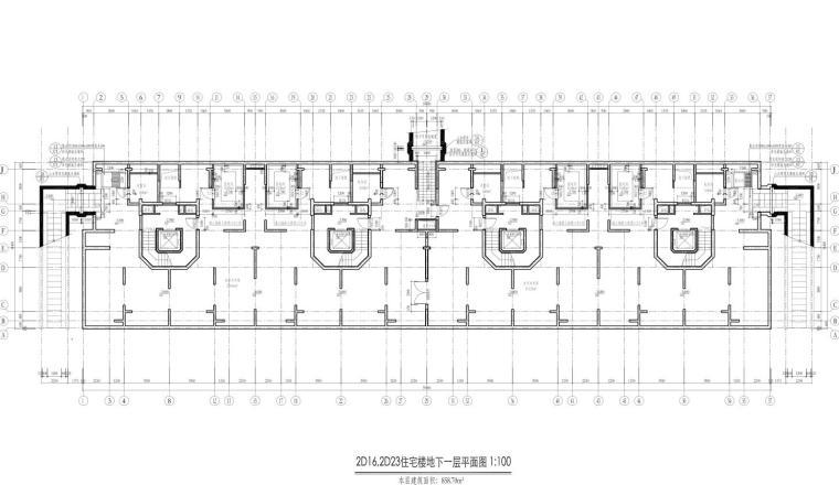 康桥水都三居室高层建筑户型图设计 (2)