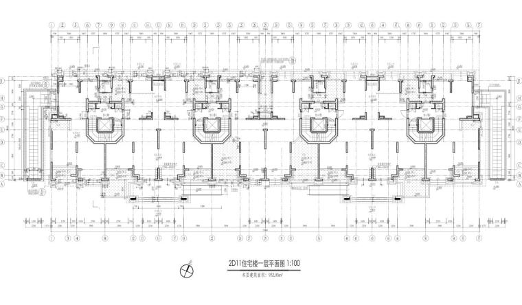 康桥水都三居室高层建筑户型图设计 (3)