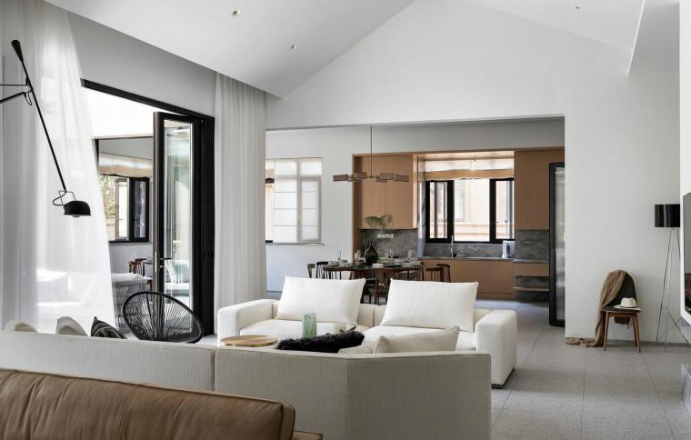 北纬18°现代风900㎡别墅住宅装修施工图设计-效果图2