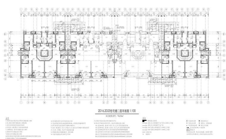 康桥水都三居室高层建筑户型图设计 (6)