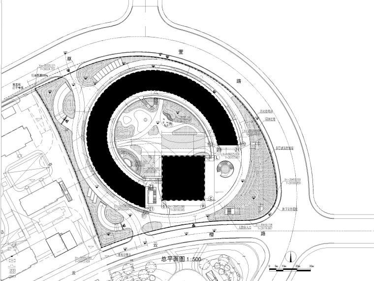 [上海]装配式产业园综合服务中心建筑施工图-总平面图
