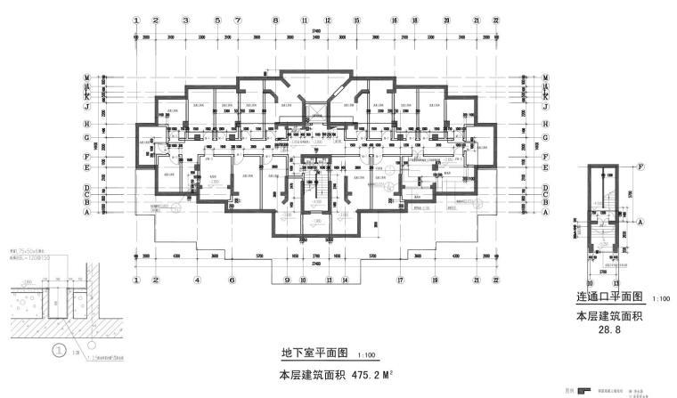 碧云晓园住宅1梯2户户型图设计 (1)