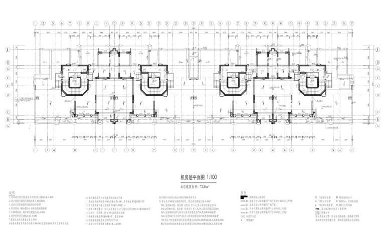 康桥水都三居室高层建筑户型图设计 (9)