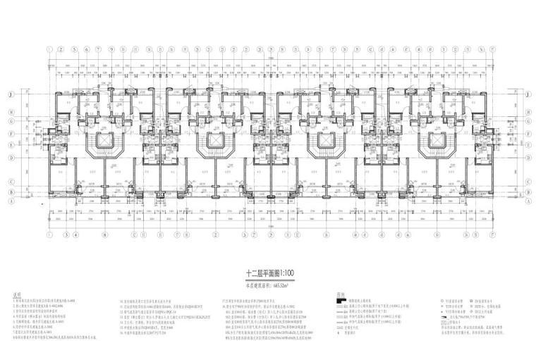 康桥水都三居室高层建筑户型图设计 (8)