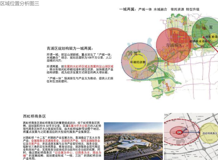 上海徐泾镇装配式高层住宅建筑方案设计文本-区域位置分析图