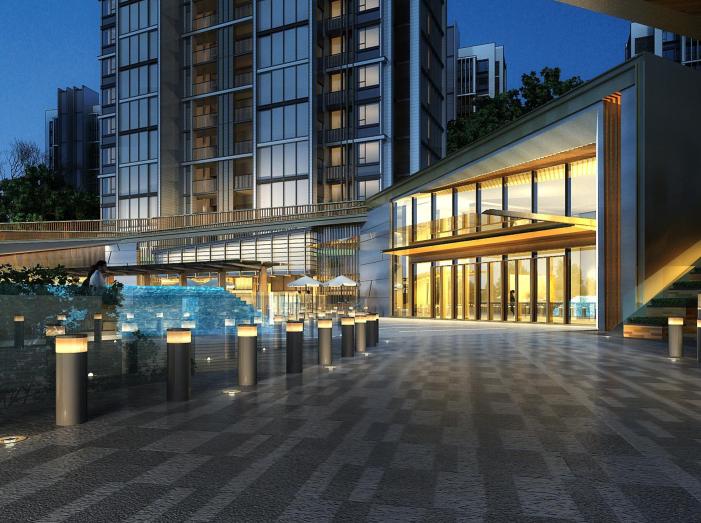 上海徐泾镇装配式高层住宅建筑方案设计文本-小区大堂透视图