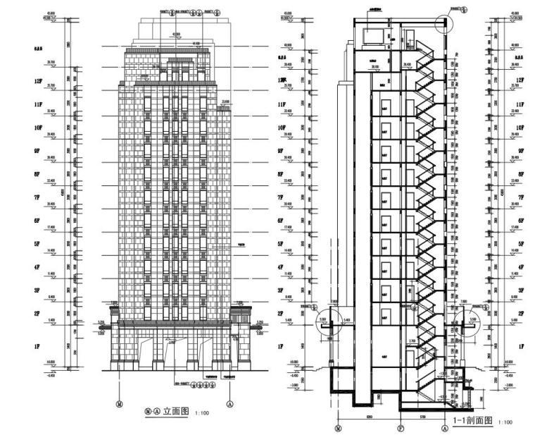碧云晓园住宅1梯2户户型图设计 (10)