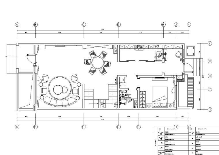 中加生态城样板间施工图+效果图-一层给排水定位图
