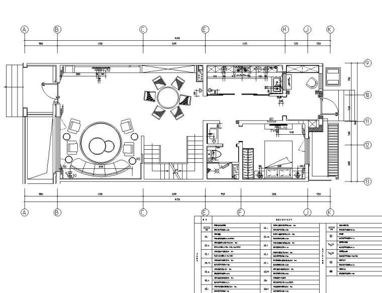 中加生态城样板间施工图+效果图-一层弱电定位图