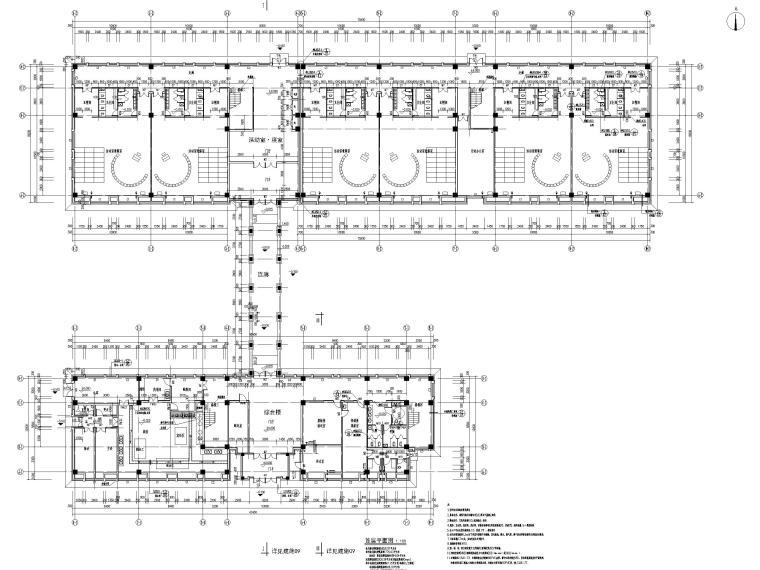 三层框架结构18班幼儿园建筑施工图2016-首层平面图