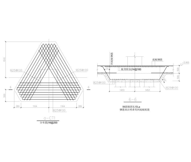 [上海]单层框架结构地下车库全套图纸2017-基础详图