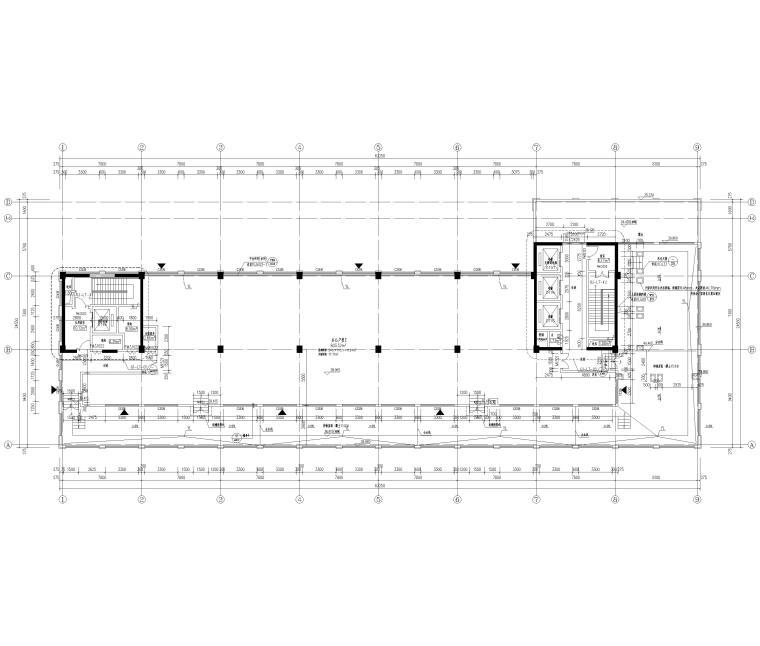 [上海]2栋高层商务办公楼全套施工图2017-建筑平面图
