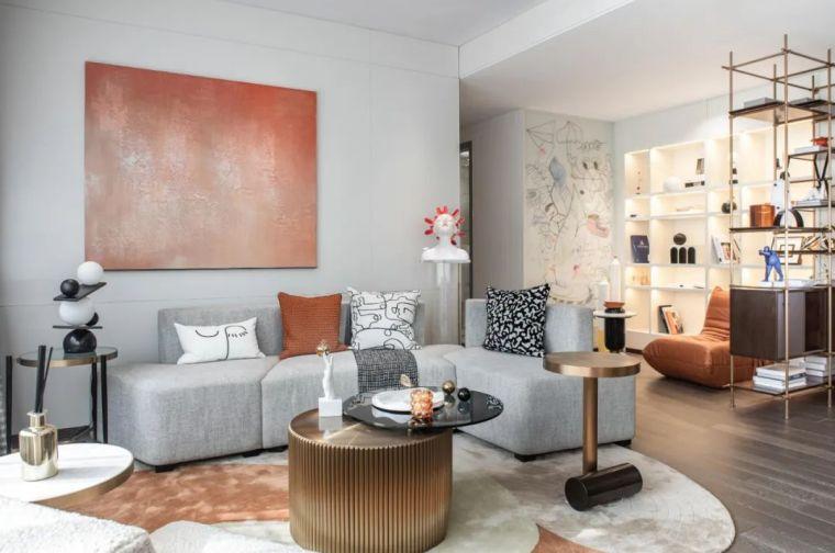 现代时光里的永恒和诗意的住宅样板间室内实景图1