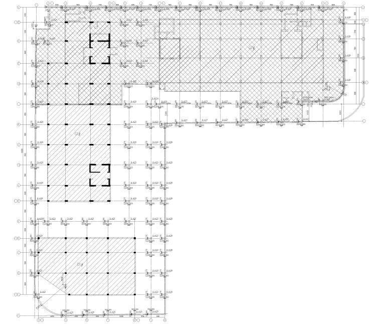[上海]单层框架结构地下车库全套图纸2017-剪力墙及柱平法施工图