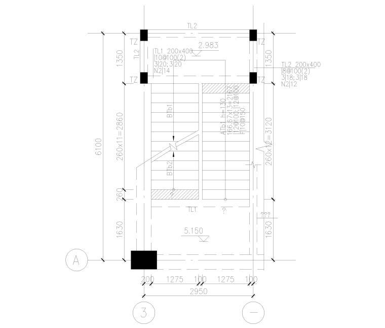 [上海]4层框架结构办公楼全套施工图2017-楼梯结构平面图