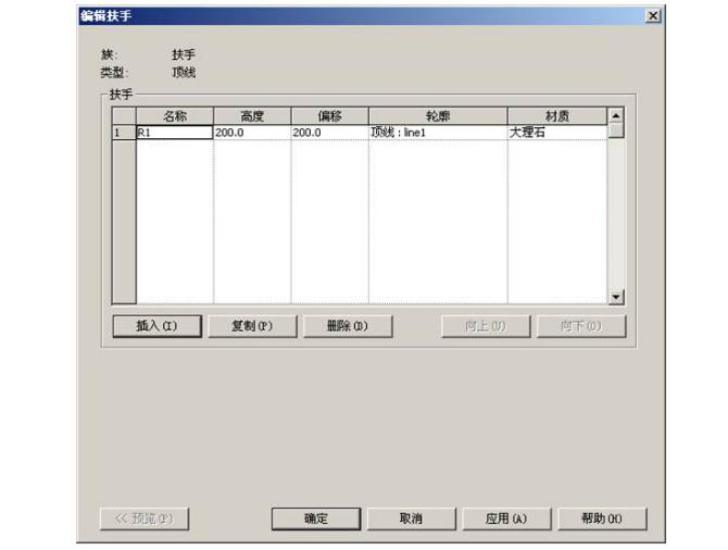 Revit软件技巧1.9.1用扶手命令创建墙饰条-类型属性对话框