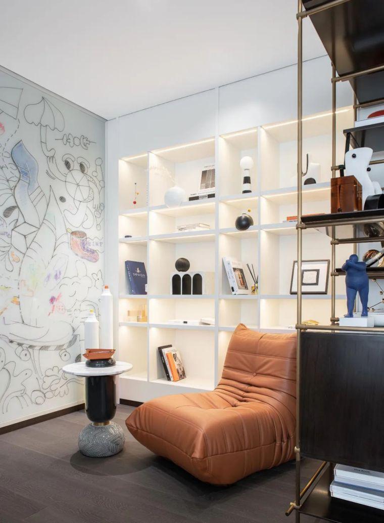 现代时光里的永恒和诗意的住宅样板间室内实景图11