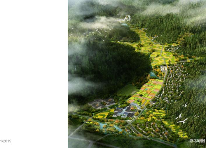 安吉县示范镇村一体村庄规划设计文本2018-鸟瞰图