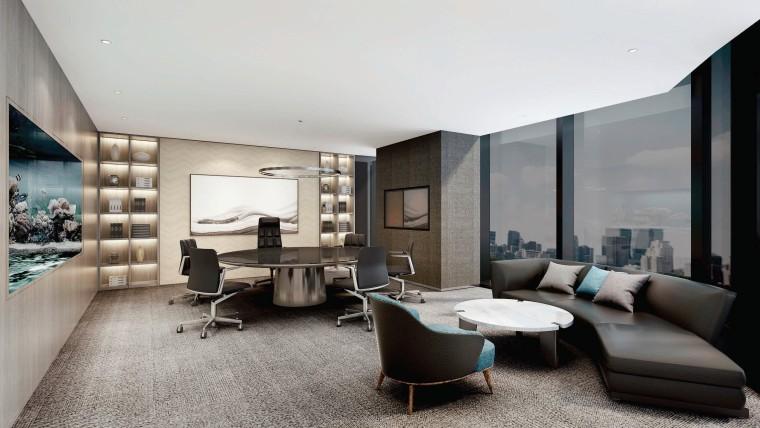 [北京]众美集团总部新办公室装修设计施工图-效果图 (4)