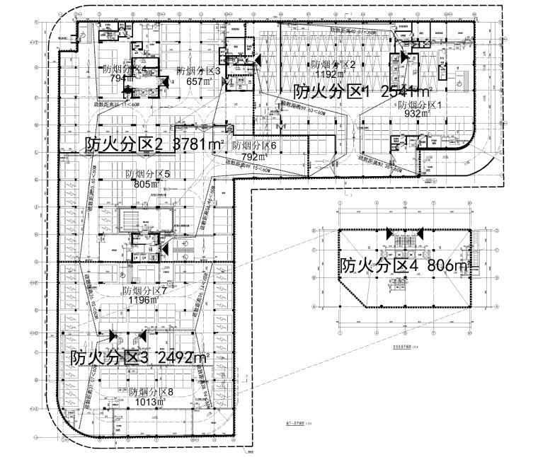 [上海]单层框架结构地下车库全套图纸2017-地下车库建筑平面图