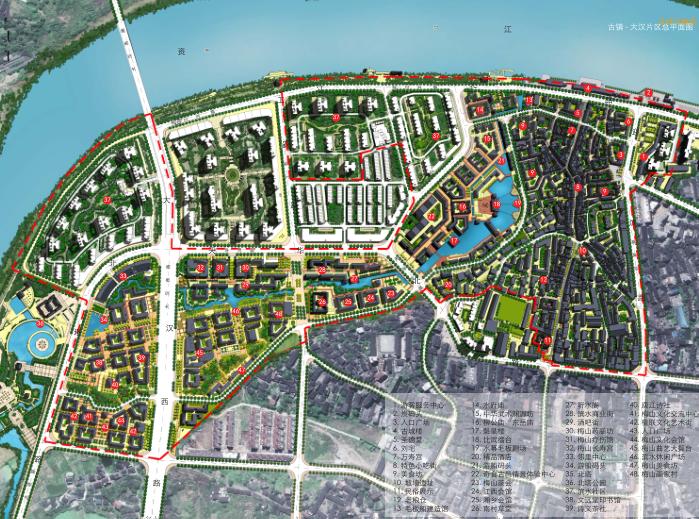 湖南新化梅山古镇保护与开发修建性详细规划-总平面图