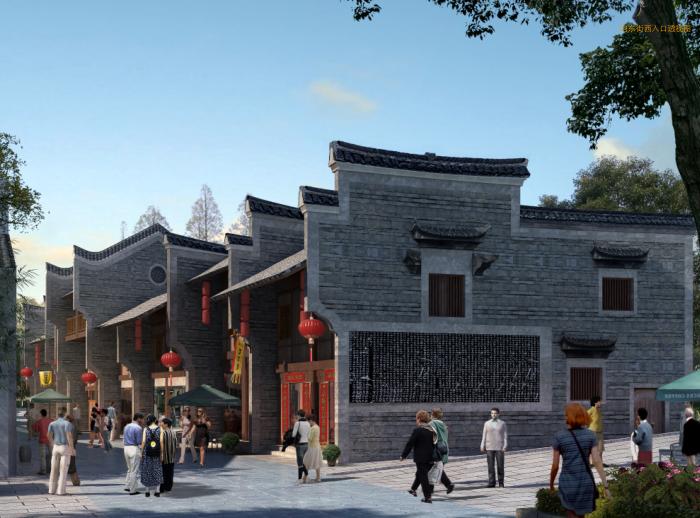 湖南新化梅山古镇保护与开发修建性详细规划-效果图2