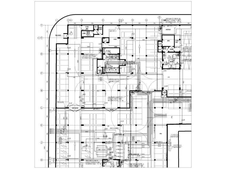 [上海]单层框架结构地下车库全套图纸2017-给排水及消防平面图