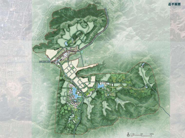 [山东]济南泉城特色风貌旅游城镇概念规划-总平面图