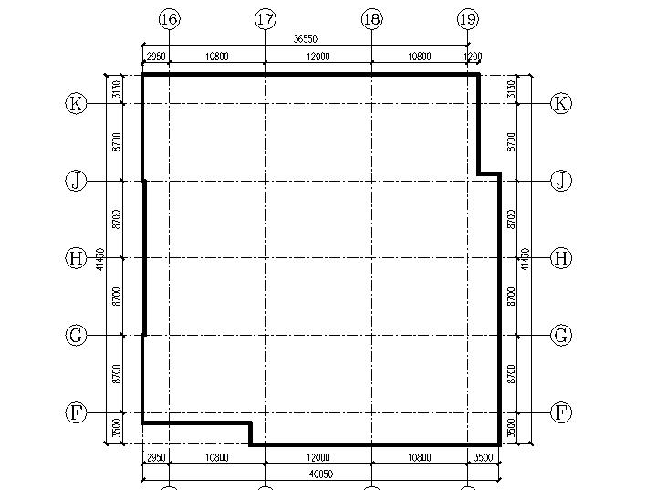 36层住宅楼附着式升降脚手架专项施工方案-02 标准层平面图