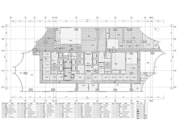 [北京]众美集团总部新办公室装修设计施工图-地面铺装图