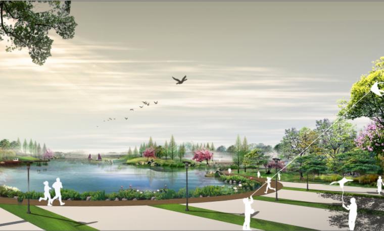 [河南]商丘临湖商业文化公园景观方案-桃花岛效果图