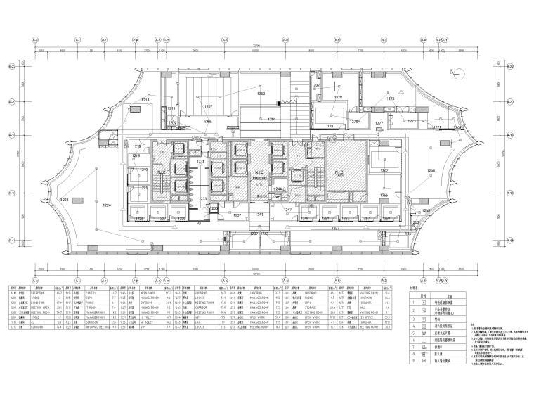 [北京]众美集团总部新办公室装修设计施工图-消防电气平面图