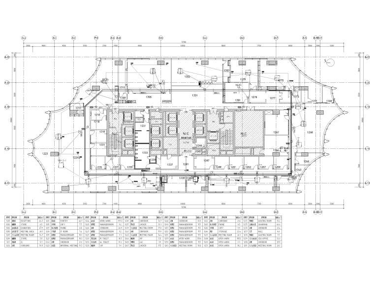 [北京]众美集团总部新办公室装修设计施工图-空调配电平面图