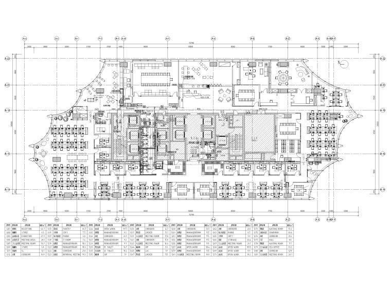 [北京]众美集团总部新办公室装修设计施工图-给排水、消火栓平面图
