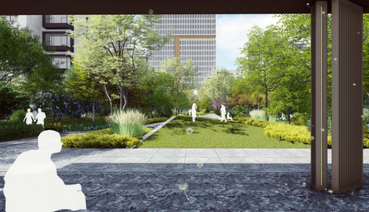 [山东]临沂现代东方自然社区景观方案设计-效果图4