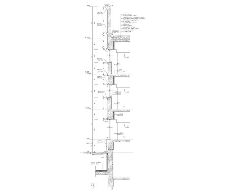 [上海]4层框架结构办公楼全套施工图2017-墙身详图