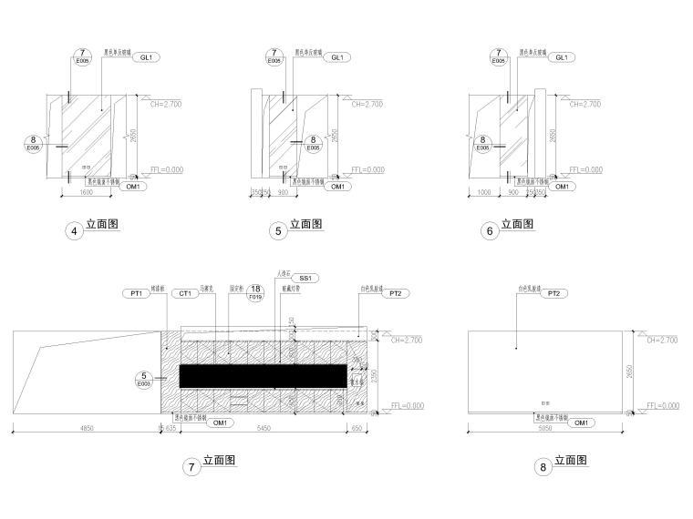 [北京]众美集团总部新办公室装修设计施工图-办公空间立面图2