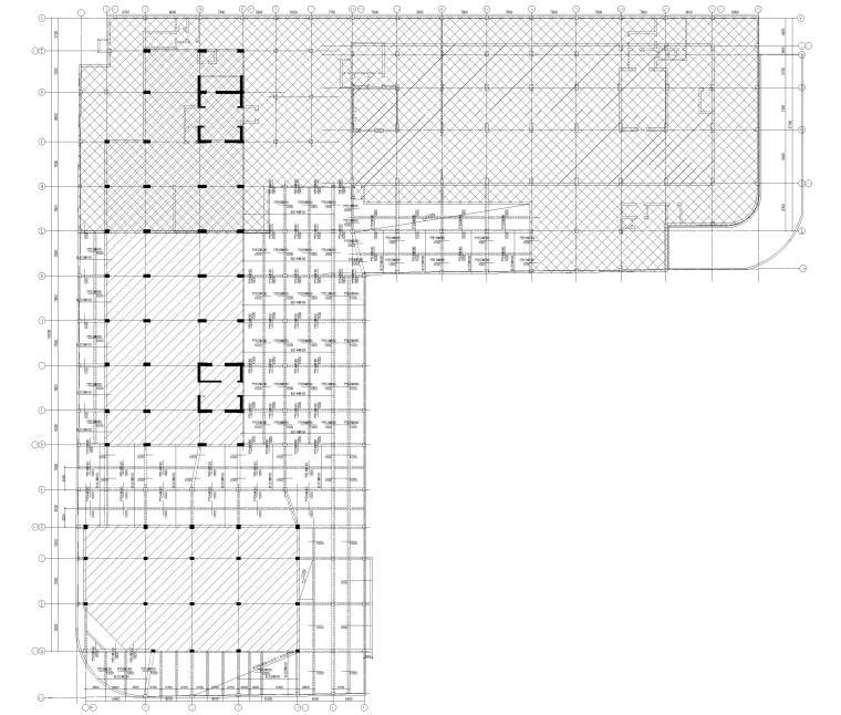 [上海]单层框架结构地下车库全套图纸2017-板平法施工图