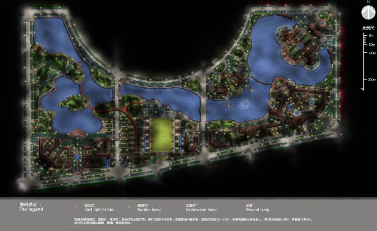 [河南]商丘临湖商业文化公园景观方案-灯光布置分析